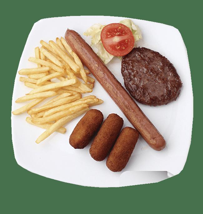 Combinado de hamburguesa